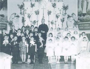 Première communion à Val-David, 1954.