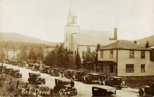 Rue-de-l'Église, Val-David, vers 1930