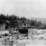 Le moulin Bélisle vers 1910. Photo Archives de la SHPVD.