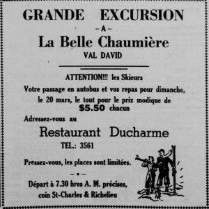 Publicité dans Le Canada français 17 mars 1949