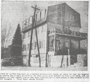 La Belle Chaumière . Source: Le Devoir 3 juin 1948