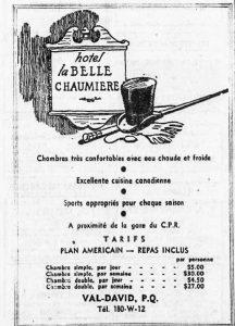 Publicité dans  Le Devoir 17 juin 1948