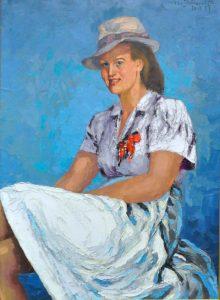 Irena Pludowska, sa femme, peinte par l'artiste en 1945