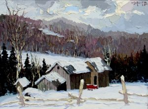 Paysage des Laurentides, Christo Stefanoff, 1953