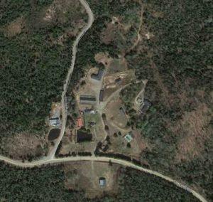 Image aérienne du site actuel (Google map)